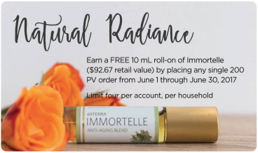 dōTERRA Natural Radiance - Free Immortelle June 2017